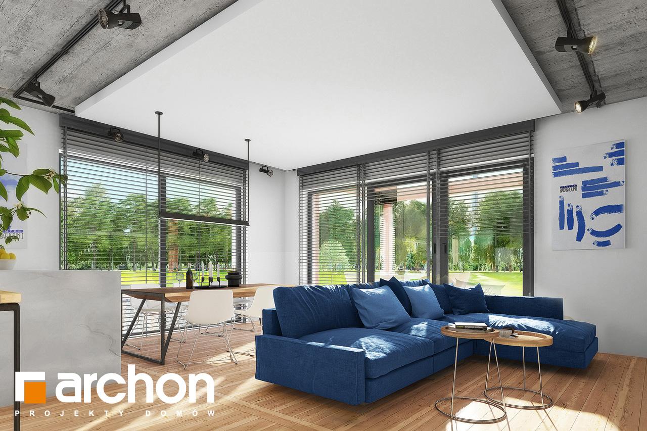 Проект дома ARCHON+ Дом в мекинтошах 9 (Г) дневная зона (визуализация 1 вид 3)