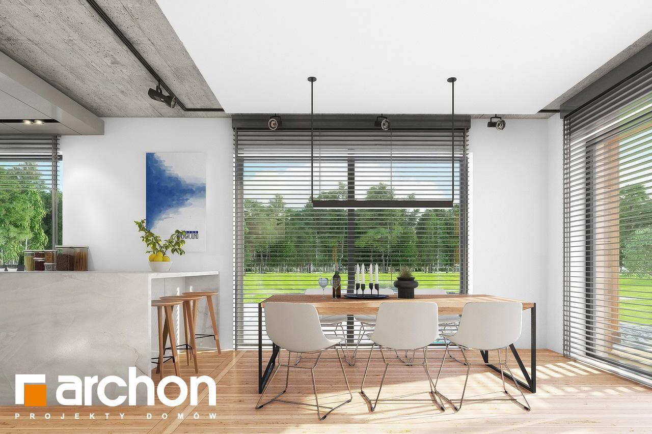 Проект дома ARCHON+ Дом в мекинтошах 9 (Г) дневная зона (визуализация 1 вид 4)