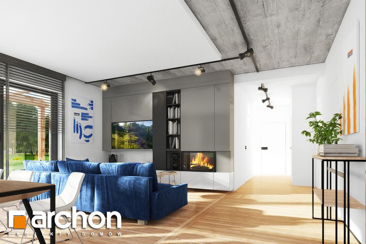 Проект дома ARCHON+ Дом в мекинтошах 9 (Г) дневная зона (визуализация 1 вид 5)