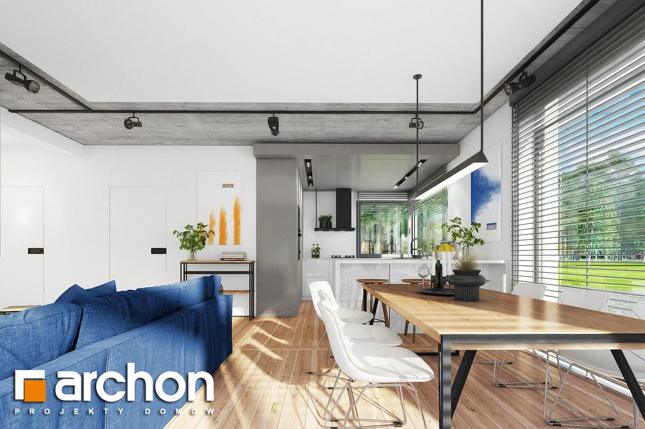 Проект дома ARCHON+ Дом в мекинтошах 9 (Г) дневная зона (визуализация 1 вид 6)