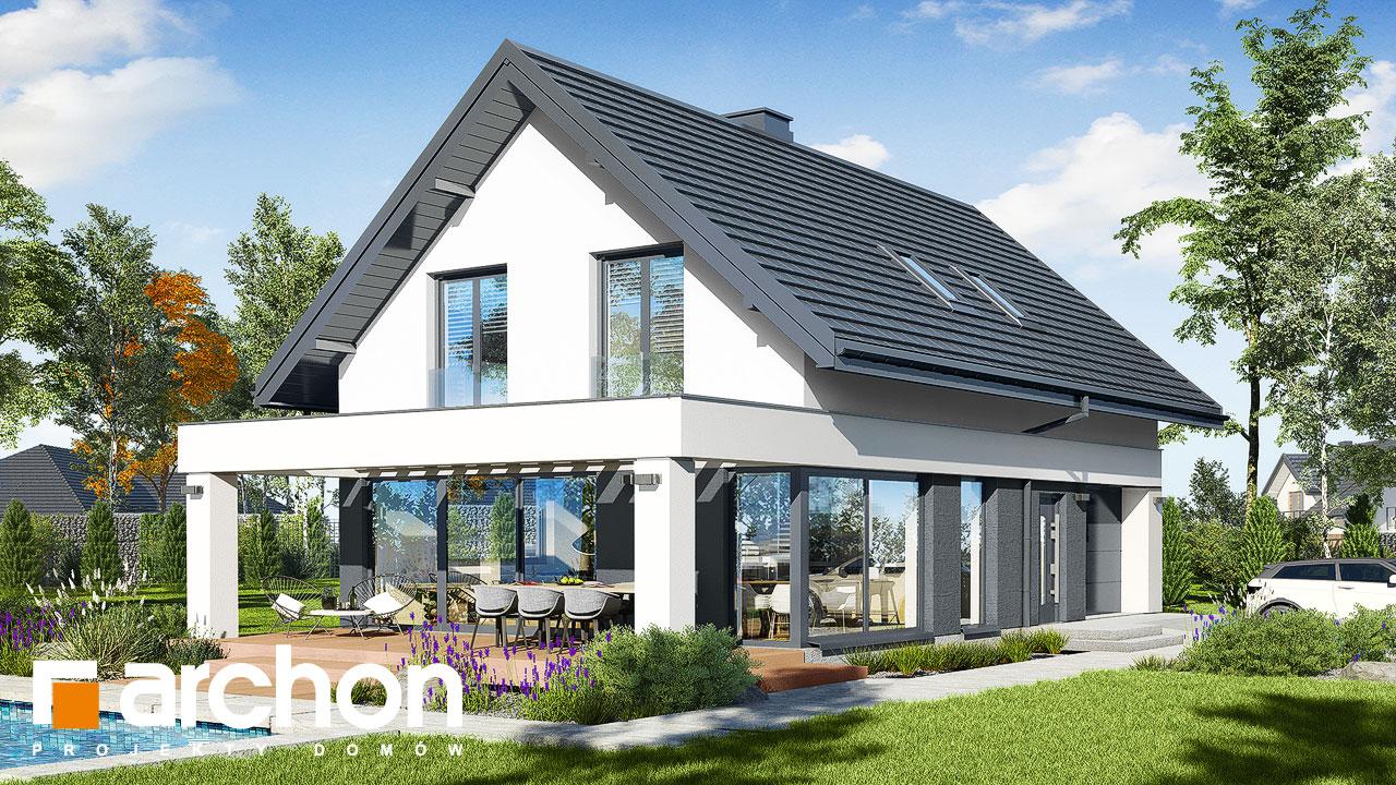 Проект будинку ARCHON+ Будинок в шишковиках додаткова візуалізація