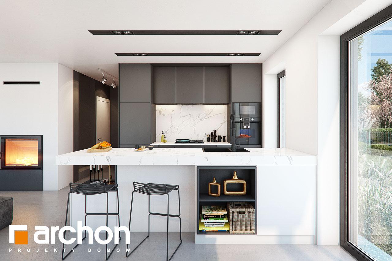 Проект будинку ARCHON+ Будинок в шишковиках візуалізація кухні 1 від 1