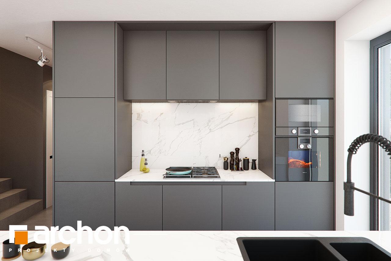 Проект будинку ARCHON+ Будинок в шишковиках візуалізація кухні 1 від 3