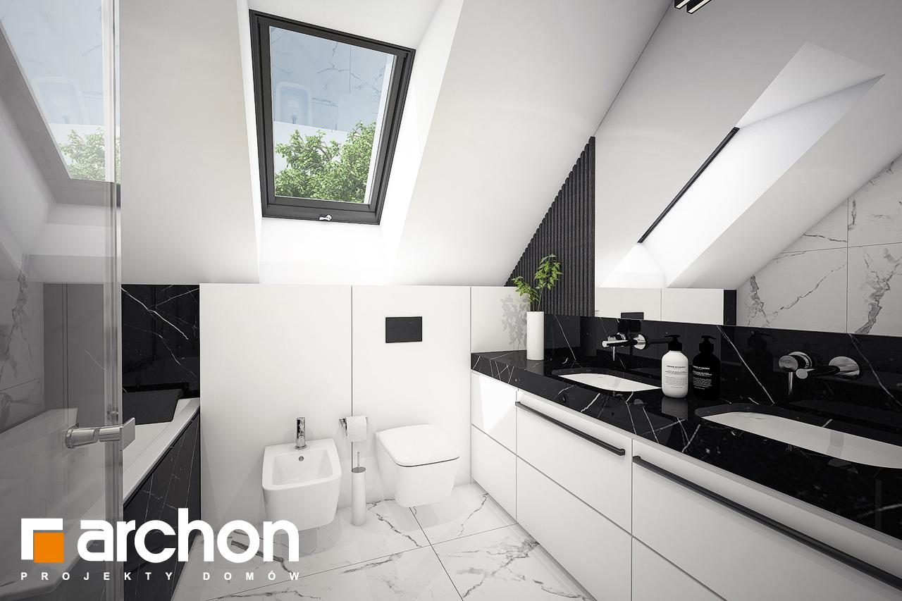 Проект будинку ARCHON+ Будинок в шишковиках візуалізація ванни (візуалізація 3 від 1)
