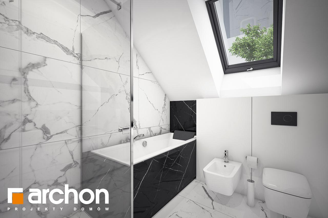 Проект будинку ARCHON+ Будинок в шишковиках візуалізація ванни (візуалізація 3 від 2)