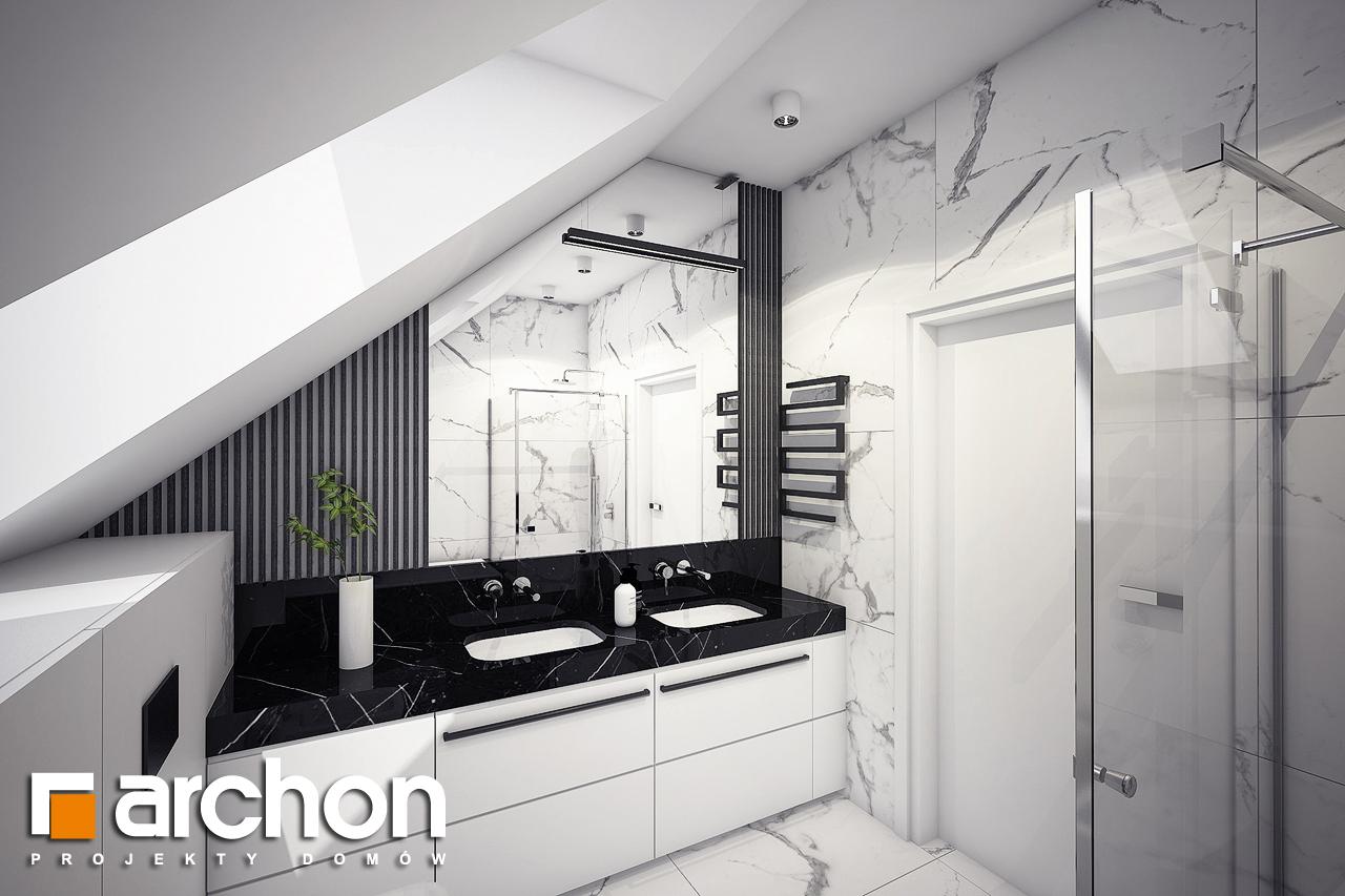 Проект будинку ARCHON+ Будинок в шишковиках візуалізація ванни (візуалізація 3 від 3)