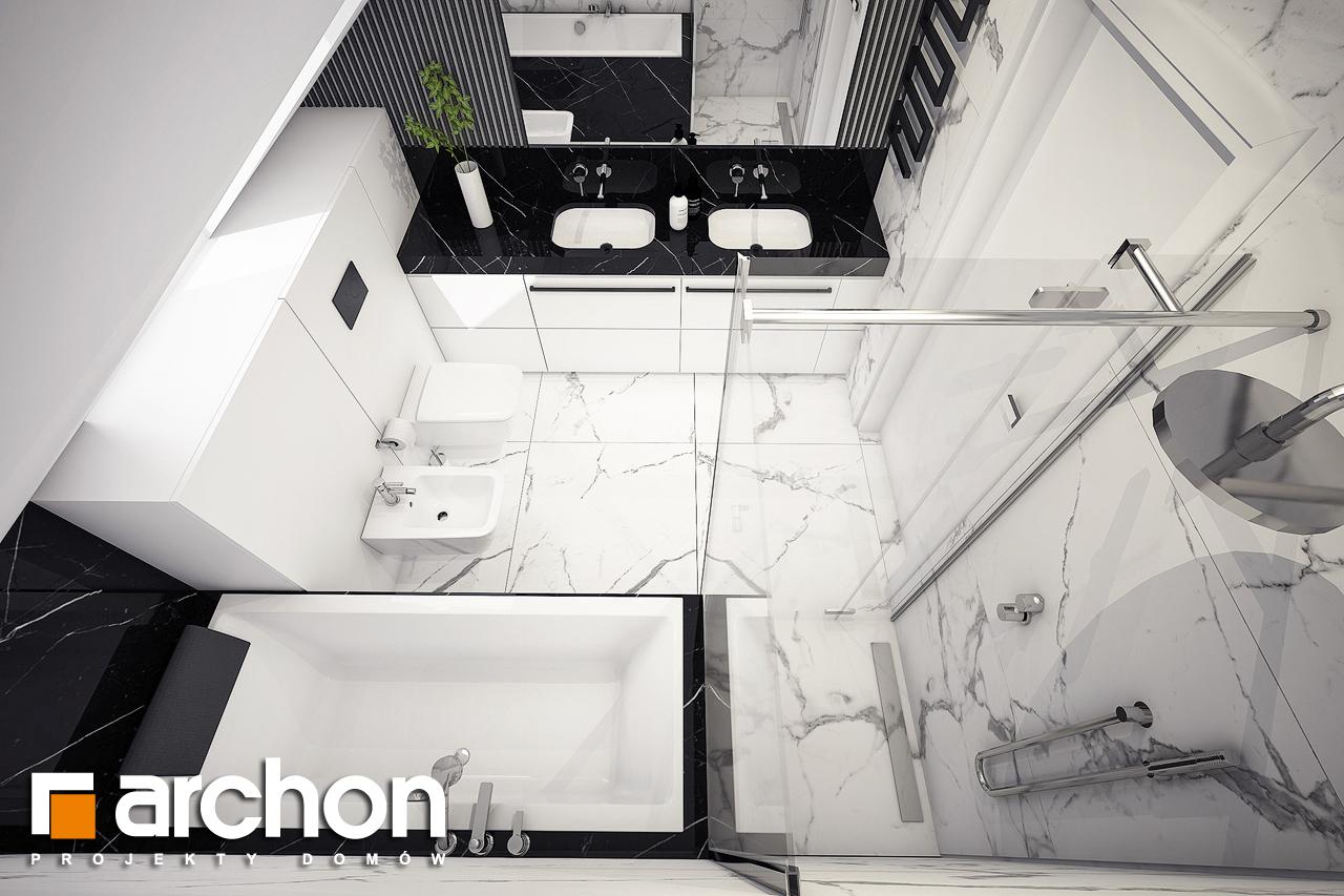 Проект будинку ARCHON+ Будинок в шишковиках візуалізація ванни (візуалізація 3 від 4)