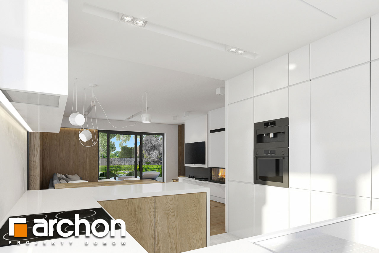 Проект будинку ARCHON+ Будинок в фаворитках візуалізація кухні 1 від 2