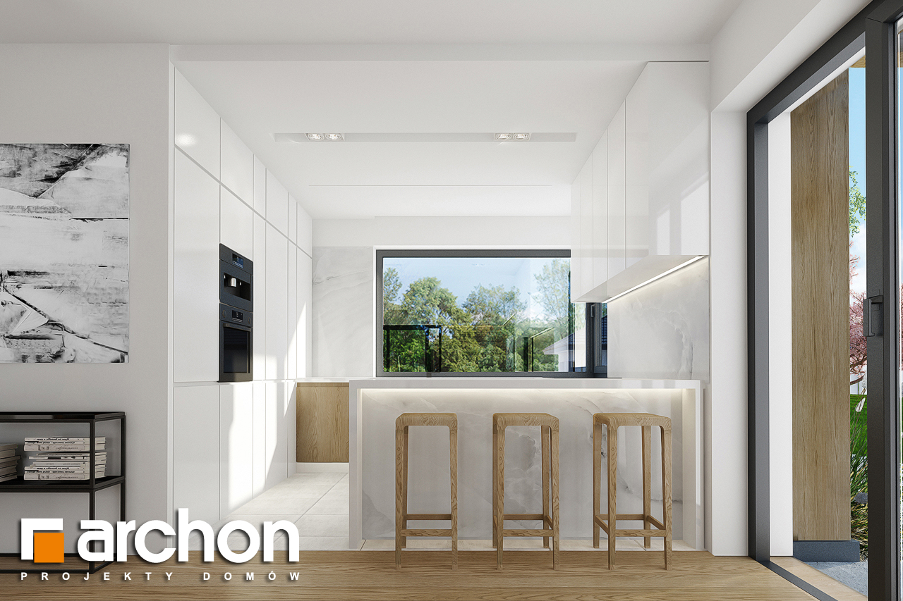 Проект дома ARCHON+ Дом в фаворитках визуализация кухни 1 вид 1