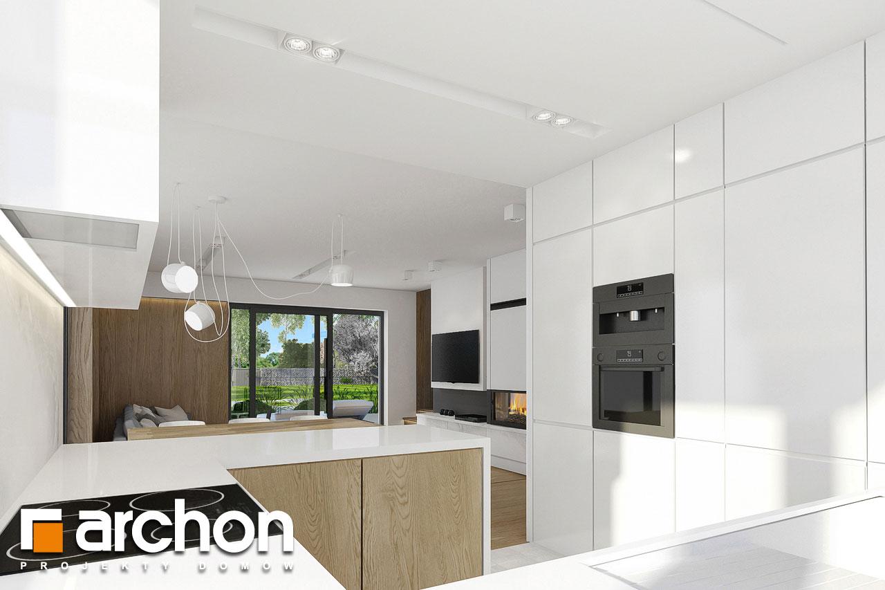 Проект дома ARCHON+ Дом в фаворитках визуализация кухни 1 вид 2
