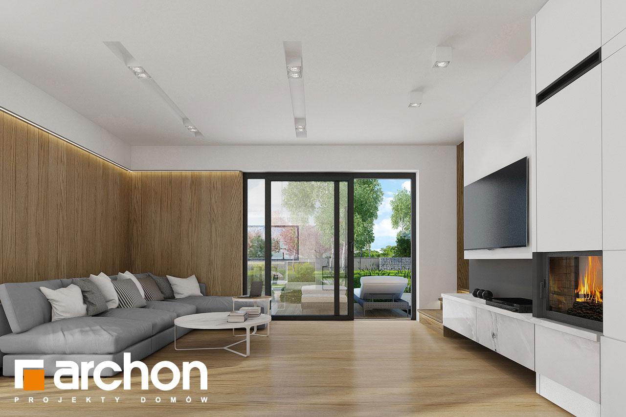Проект дома ARCHON+ Дом в фаворитках дневная зона (визуализация 1 вид 1)