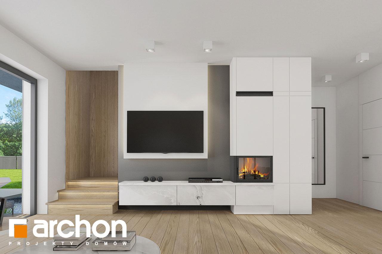 Проект дома ARCHON+ Дом в фаворитках дневная зона (визуализация 1 вид 2)