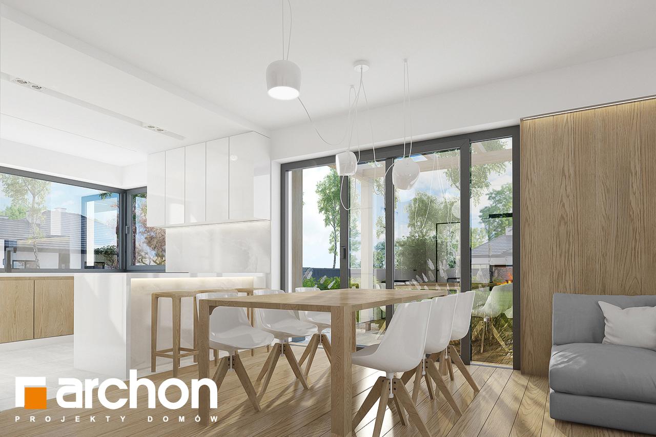 Проект дома ARCHON+ Дом в фаворитках дневная зона (визуализация 1 вид 3)