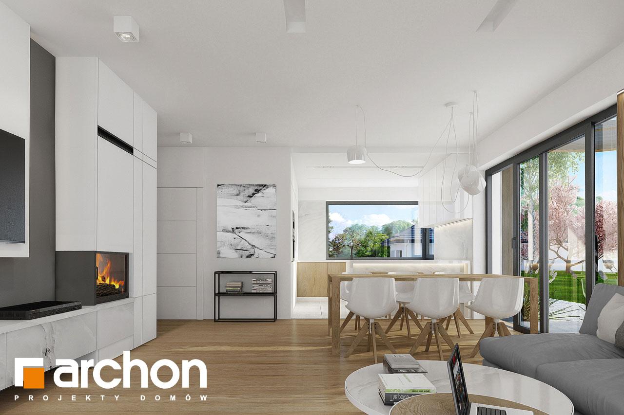 Проект дома ARCHON+ Дом в фаворитках дневная зона (визуализация 1 вид 4)