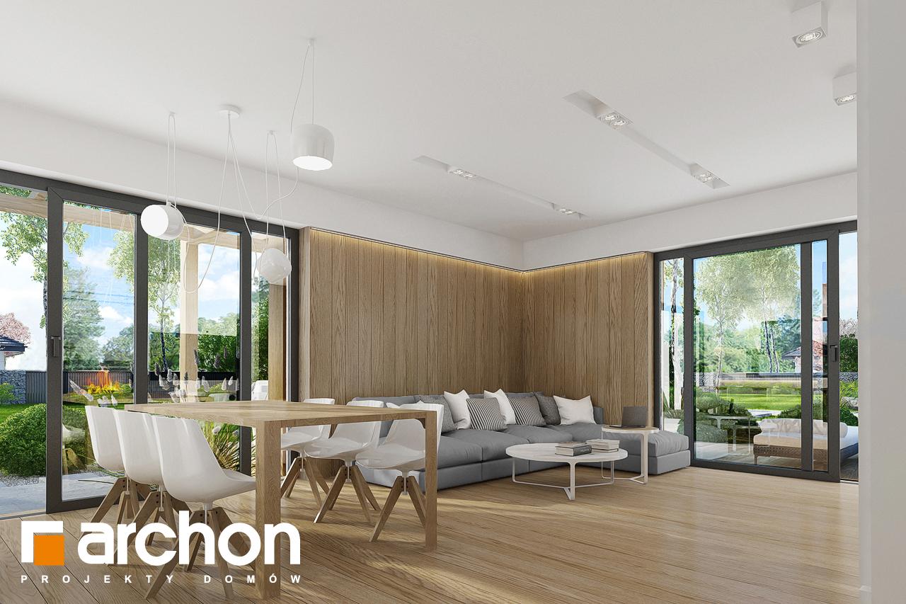 Проект дома ARCHON+ Дом в фаворитках дневная зона (визуализация 1 вид 5)