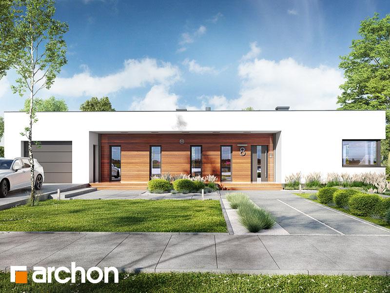 Проект будинку ARCHON+ Будинок в плюмеріях 3 (Г) Вид 1