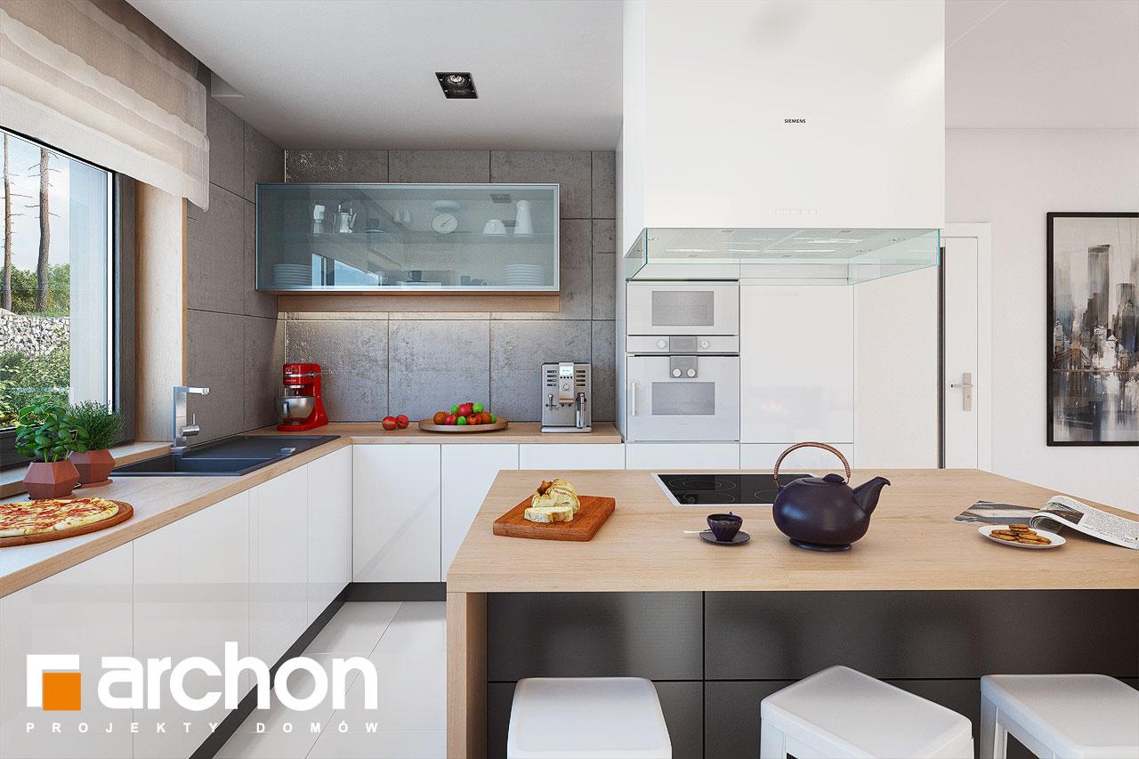 Проект будинку ARCHON+ Будинок в ісменах 2 (Г2) візуалізація кухні 1 від 2