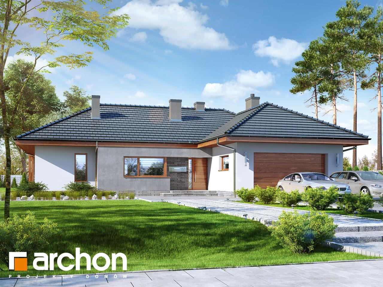 Проект будинку ARCHON+ Будинок в ісменах 2 (Г2) стилізація 3