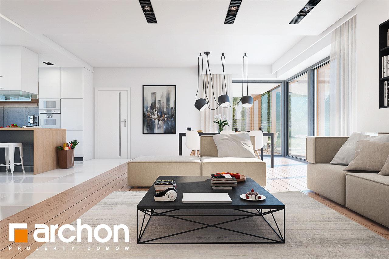 Проект будинку ARCHON+ Будинок в ісменах 2 (Г2) денна зона (візуалізація 1 від 2)