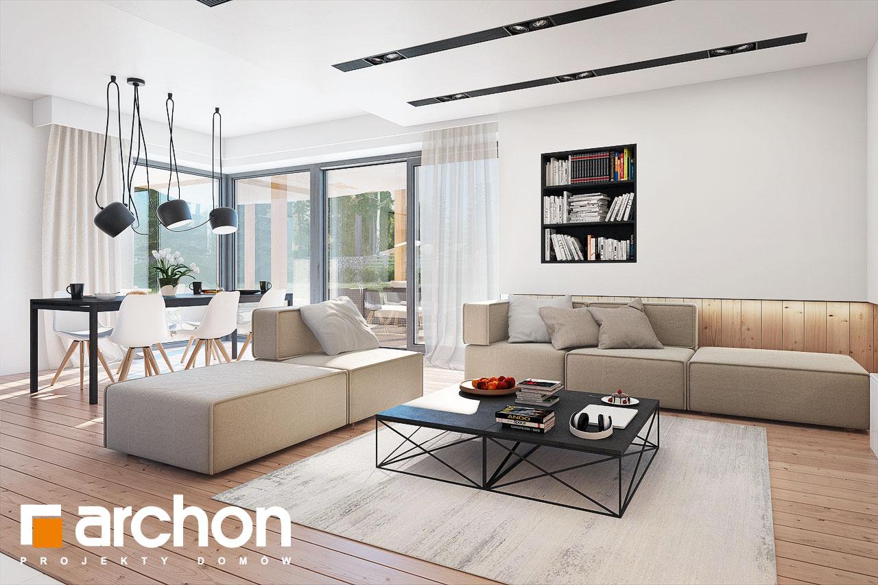 Проект будинку ARCHON+ Будинок в ісменах 2 (Г2) денна зона (візуалізація 1 від 3)