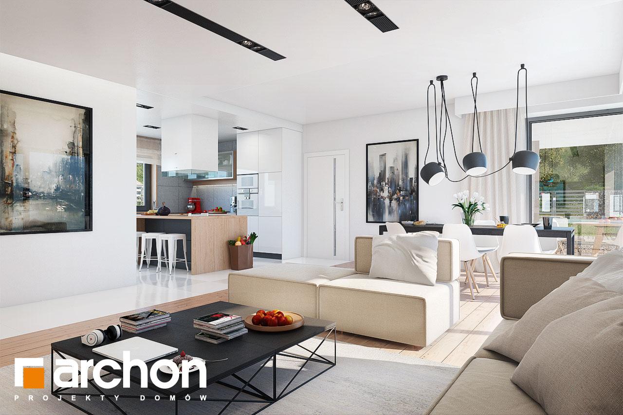 Проект будинку ARCHON+ Будинок в ісменах 2 (Г2) денна зона (візуалізація 1 від 4)