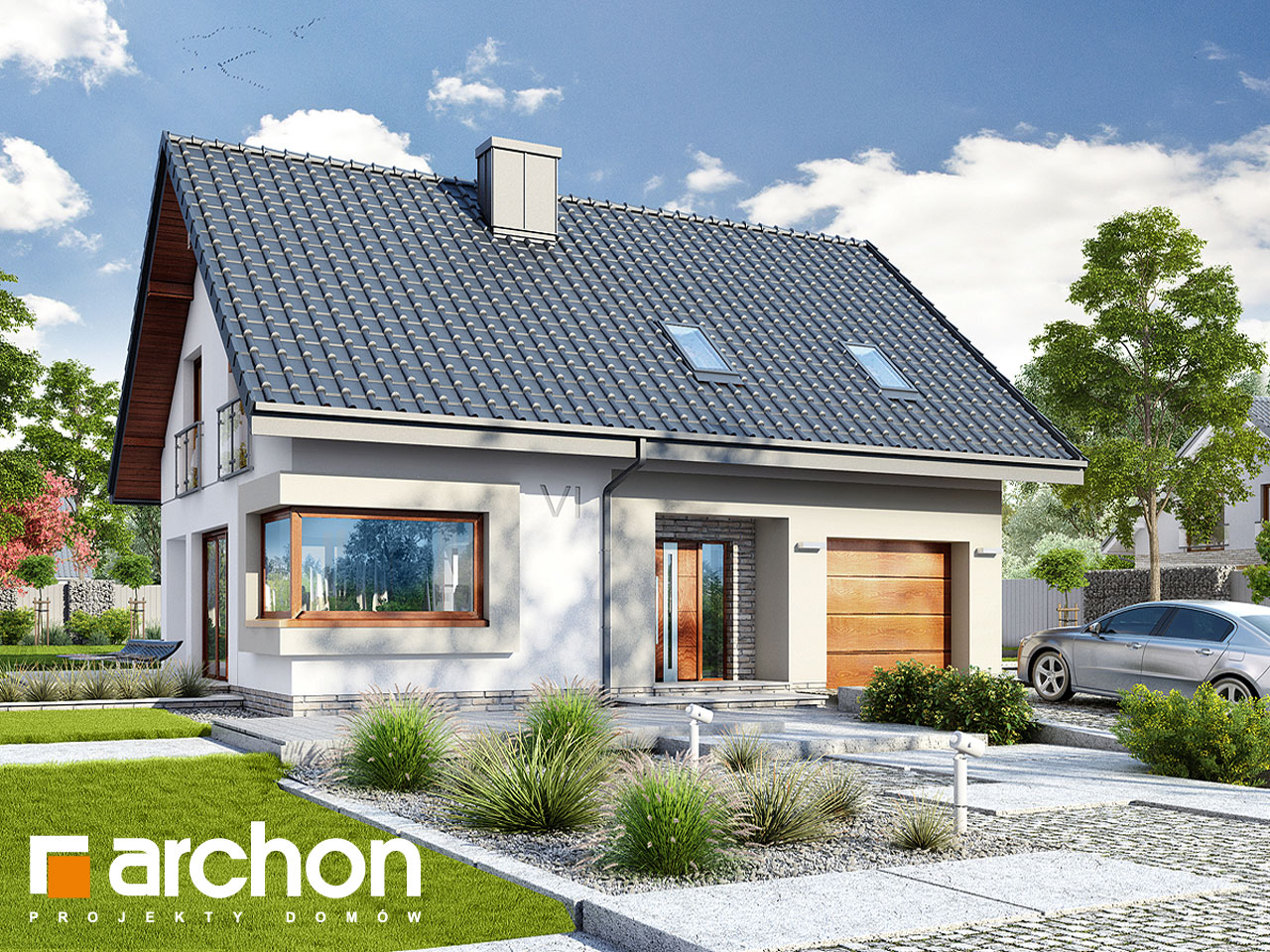 Проект будинку ARCHON+ Будинок в ізопірумі додаткова візуалізація