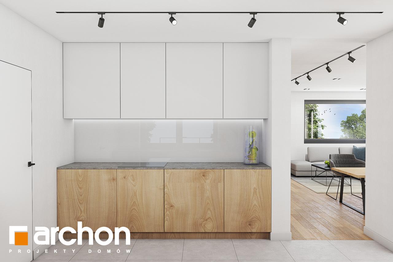 Проект дома ARCHON+ Дом в изопируме визуализация кухни 1 вид 2