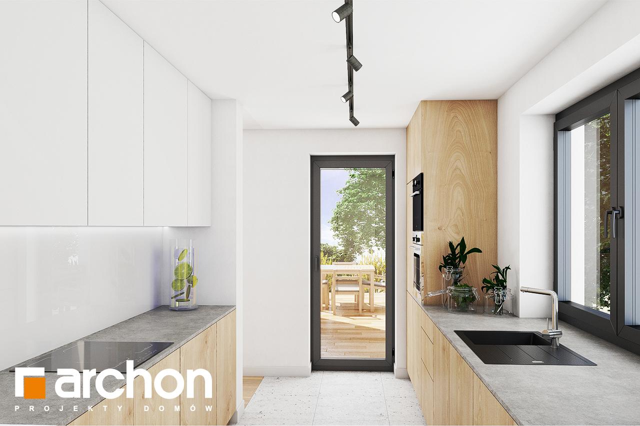 Проект дома ARCHON+ Дом в изопируме визуализация кухни 1 вид 3