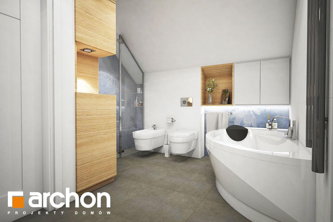 Проект дома ARCHON+ Дом в изопируме визуализация ванной (визуализация 3 вид 1)