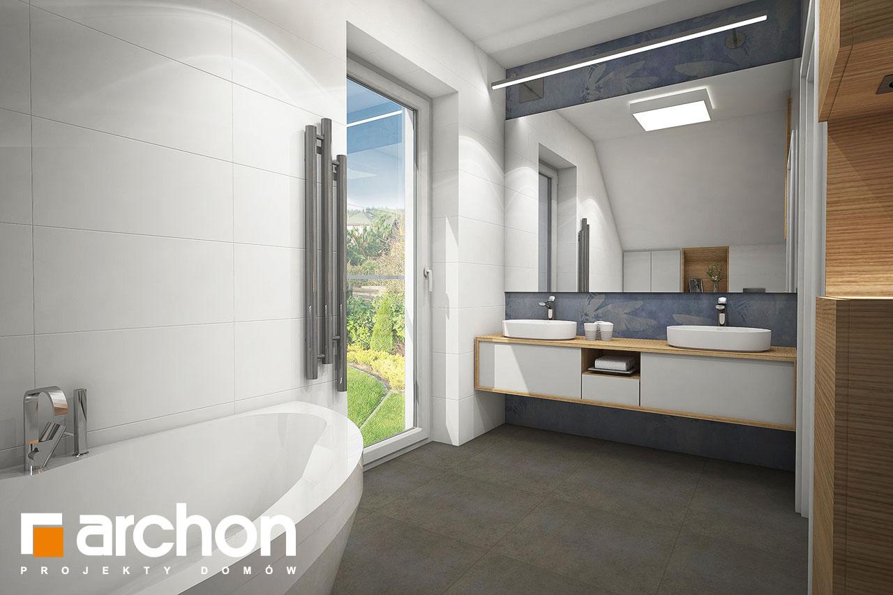 Проект дома ARCHON+ Дом в изопируме визуализация ванной (визуализация 3 вид 2)