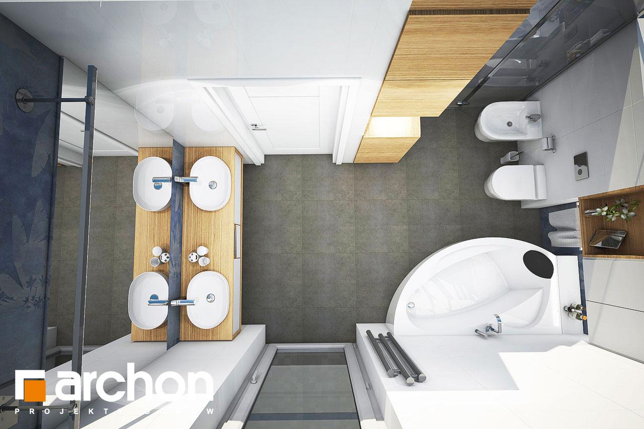 Проект дома ARCHON+ Дом в изопируме визуализация ванной (визуализация 3 вид 4)