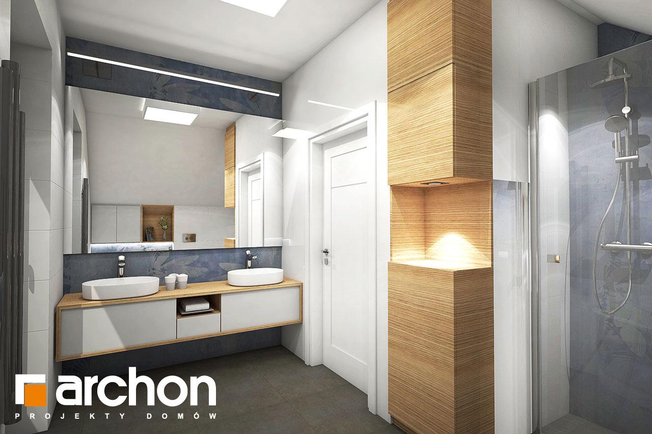 Проект дома ARCHON+ Дом в изопируме визуализация ванной (визуализация 3 вид 3)