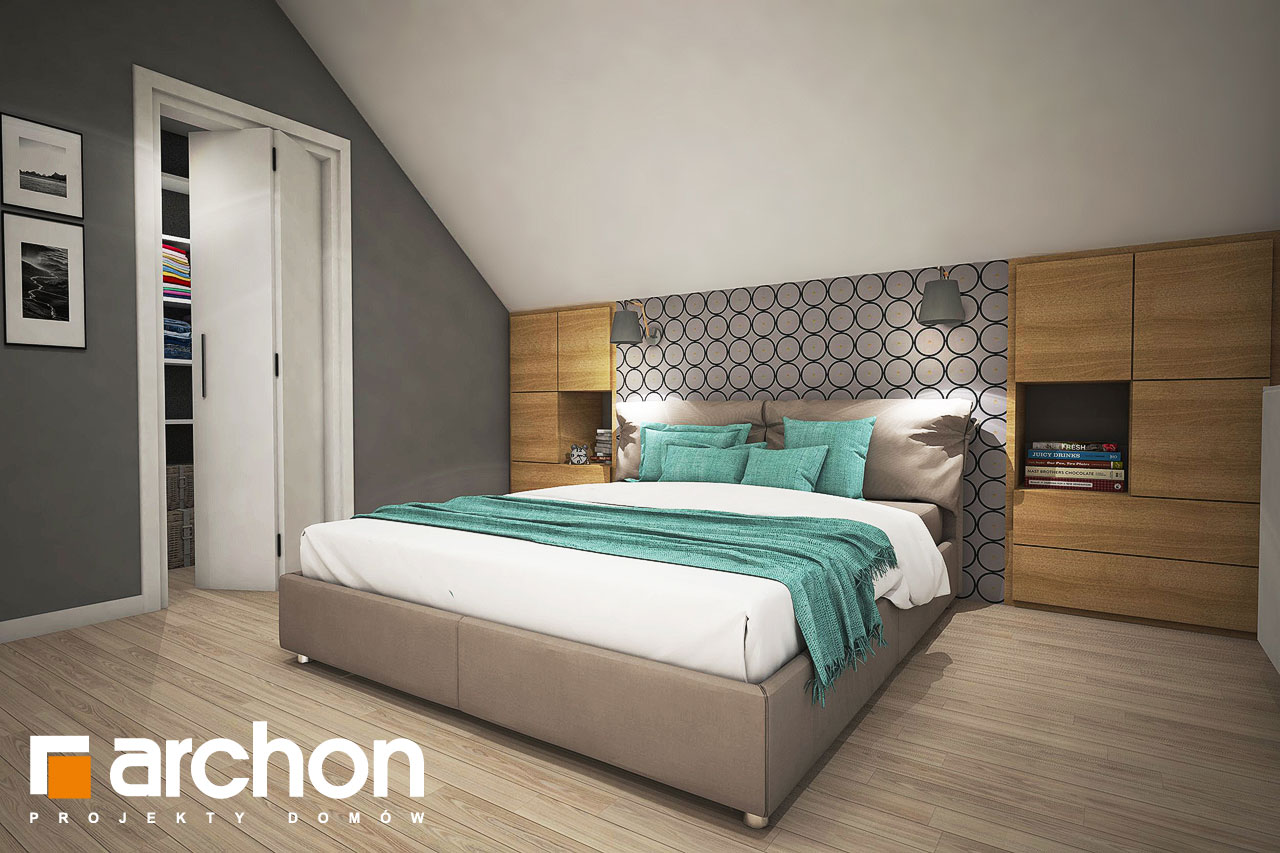 Проект дома ARCHON+ Дом в изопируме ночная зона (визуализация 1 вид 1)