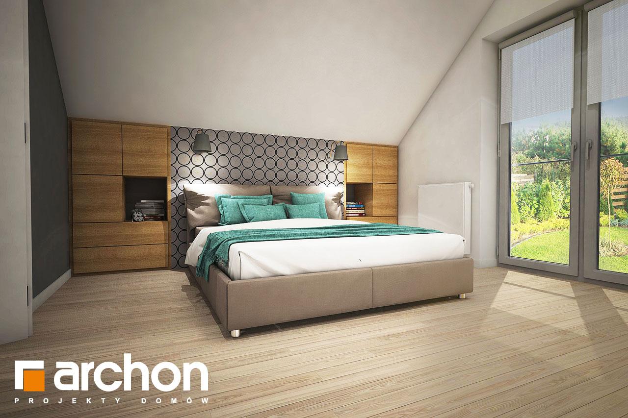 Проект дома ARCHON+ Дом в изопируме ночная зона (визуализация 1 вид 2)