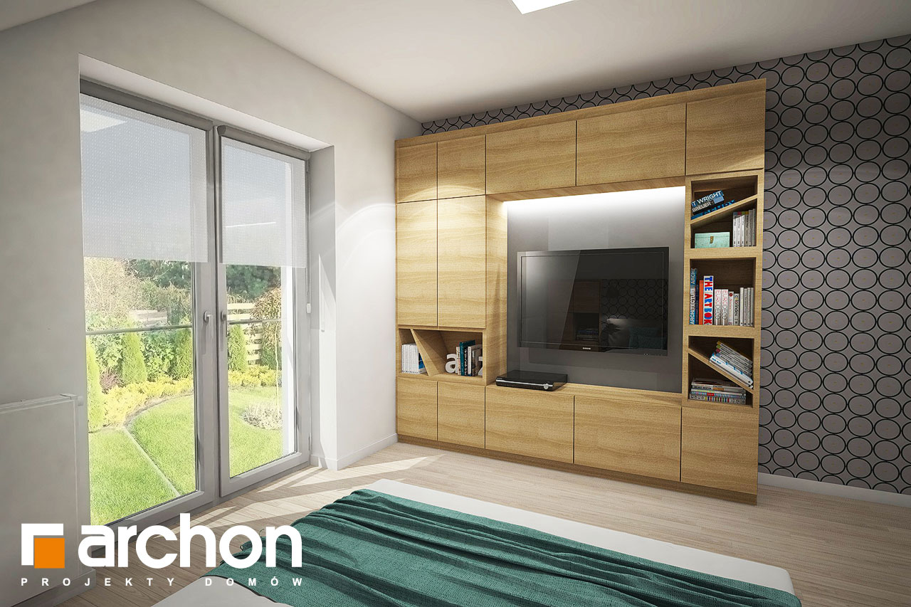 Проект дома ARCHON+ Дом в изопируме ночная зона (визуализация 1 вид 3)