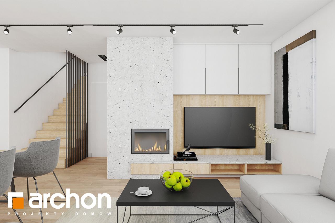 Проект дома ARCHON+ Дом в изопируме дневная зона (визуализация 1 вид 1)