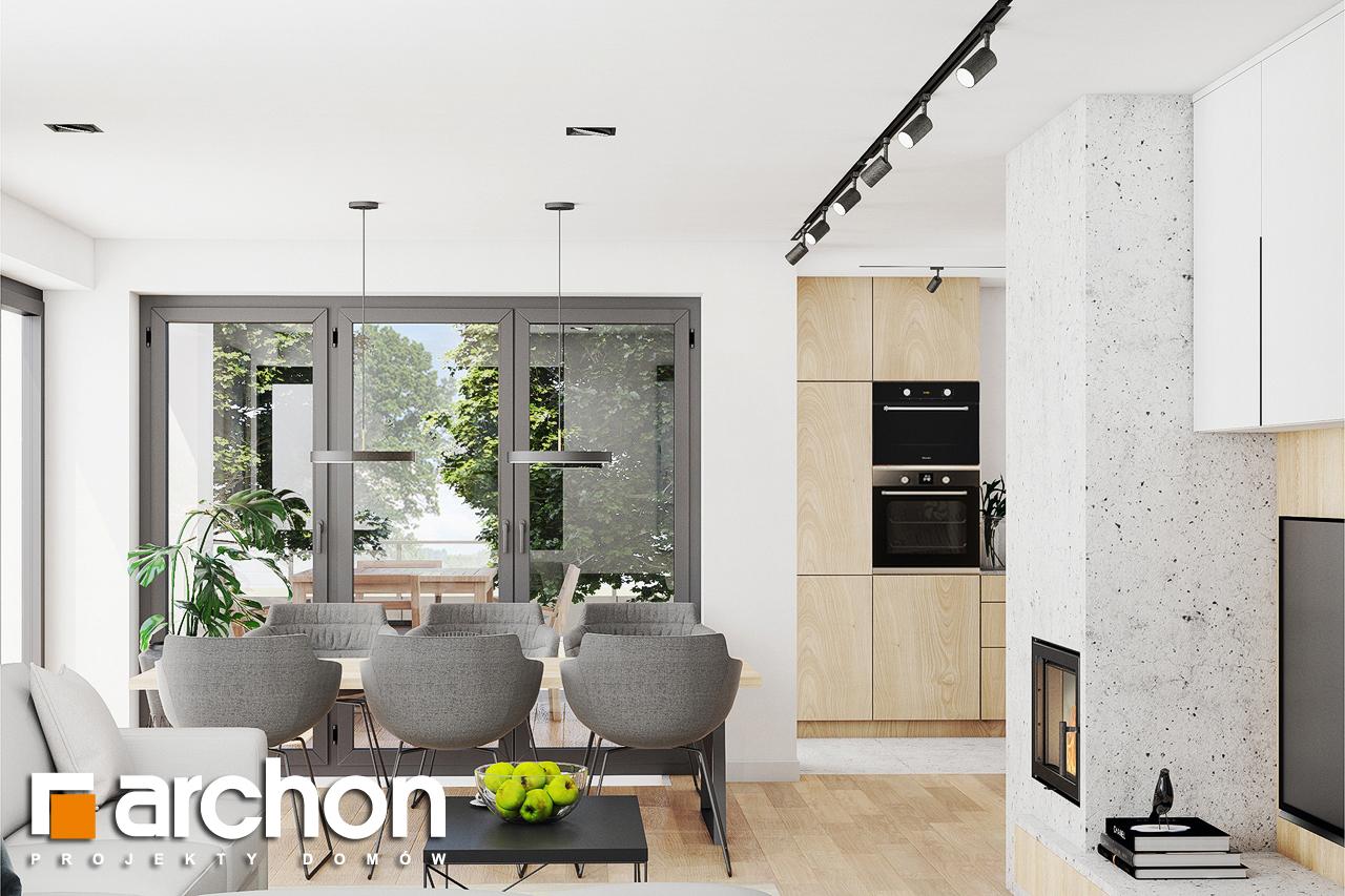 Проект дома ARCHON+ Дом в изопируме дневная зона (визуализация 1 вид 2)