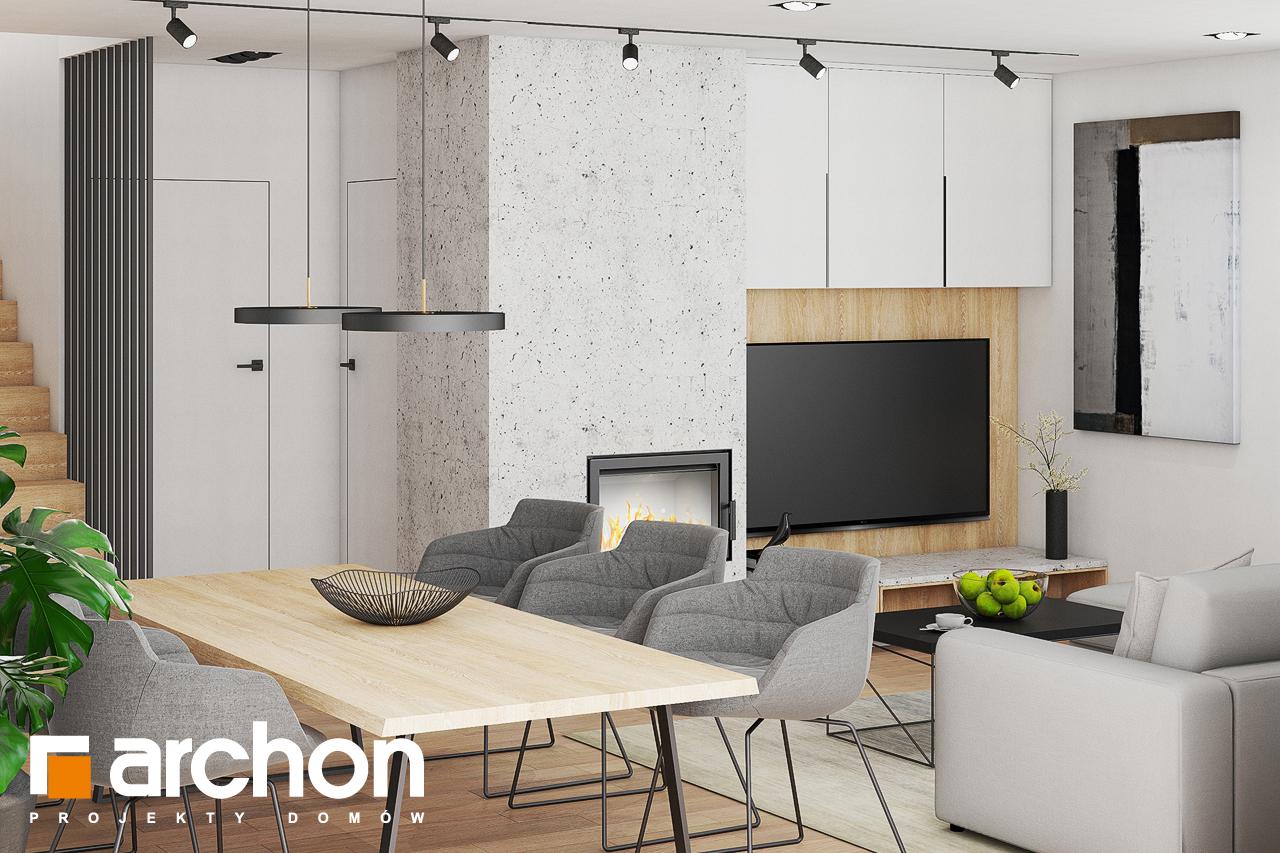 Проект дома ARCHON+ Дом в изопируме дневная зона (визуализация 1 вид 3)