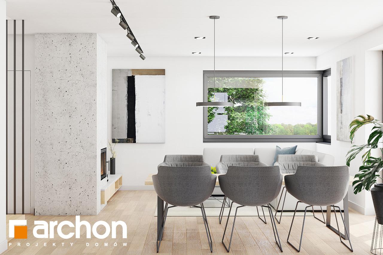 Проект дома ARCHON+ Дом в изопируме дневная зона (визуализация 1 вид 4)