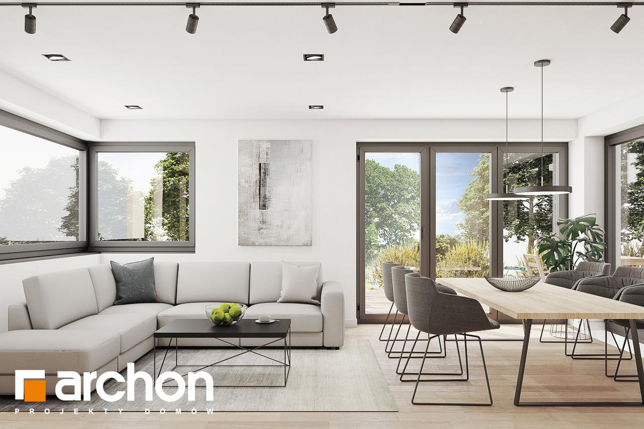 Проект дома ARCHON+ Дом в изопируме дневная зона (визуализация 1 вид 5)