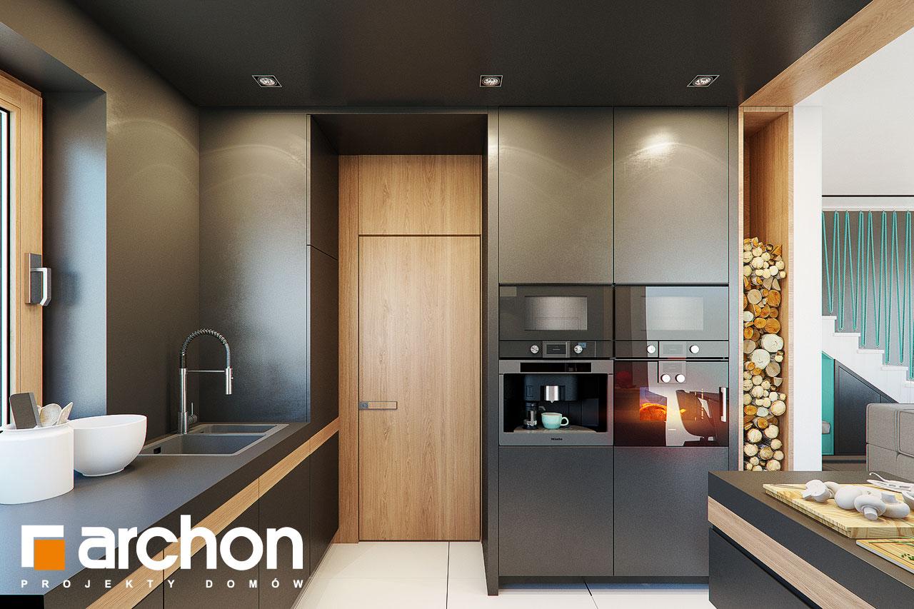 Проект будинку ARCHON+ Будинок в аммобіумі (Г2) візуалізація кухні 1 від 2