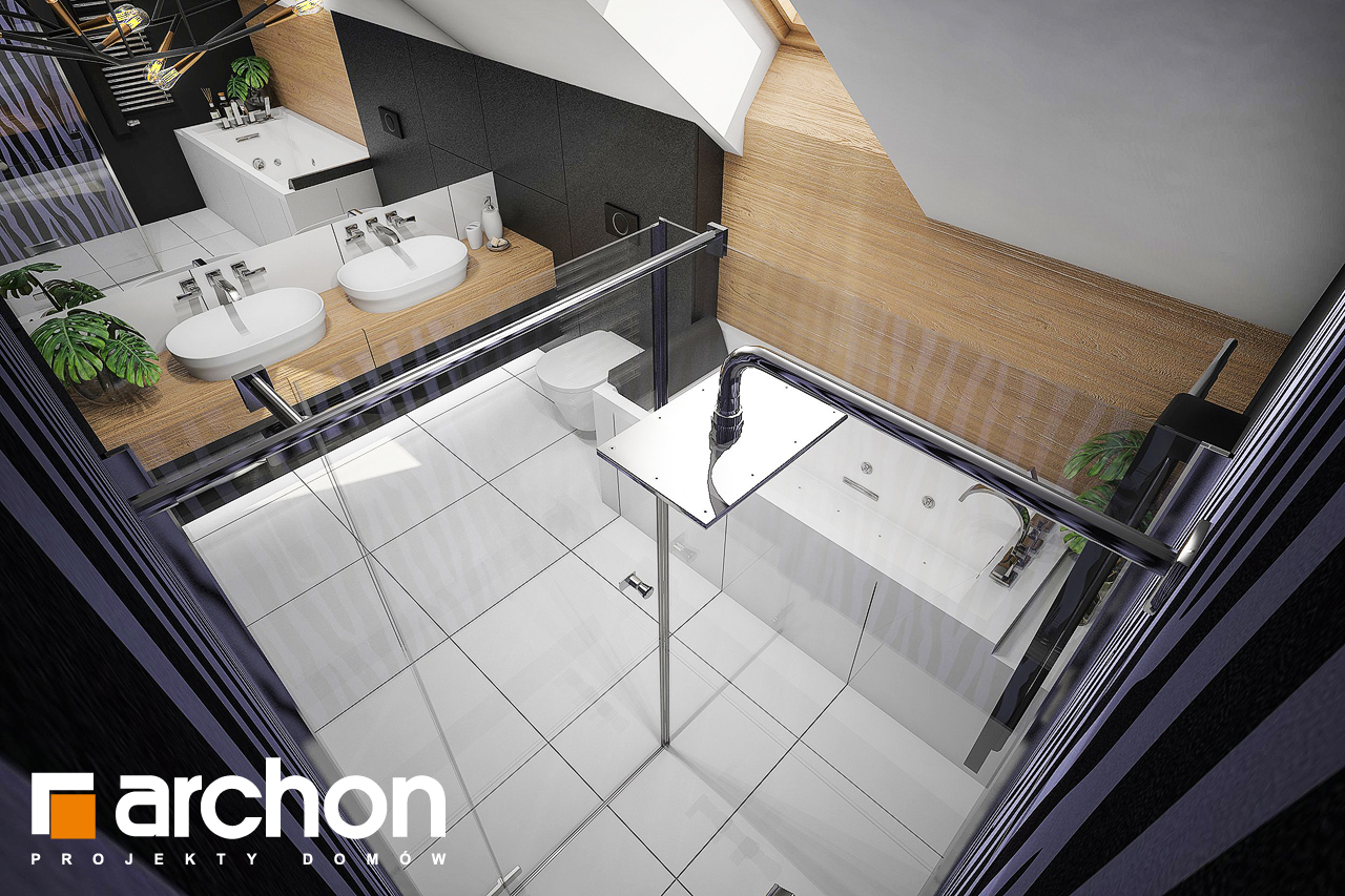 Проект будинку ARCHON+ Будинок в аммобіумі (Г2) візуалізація ванни (візуалізація 3 від 4)