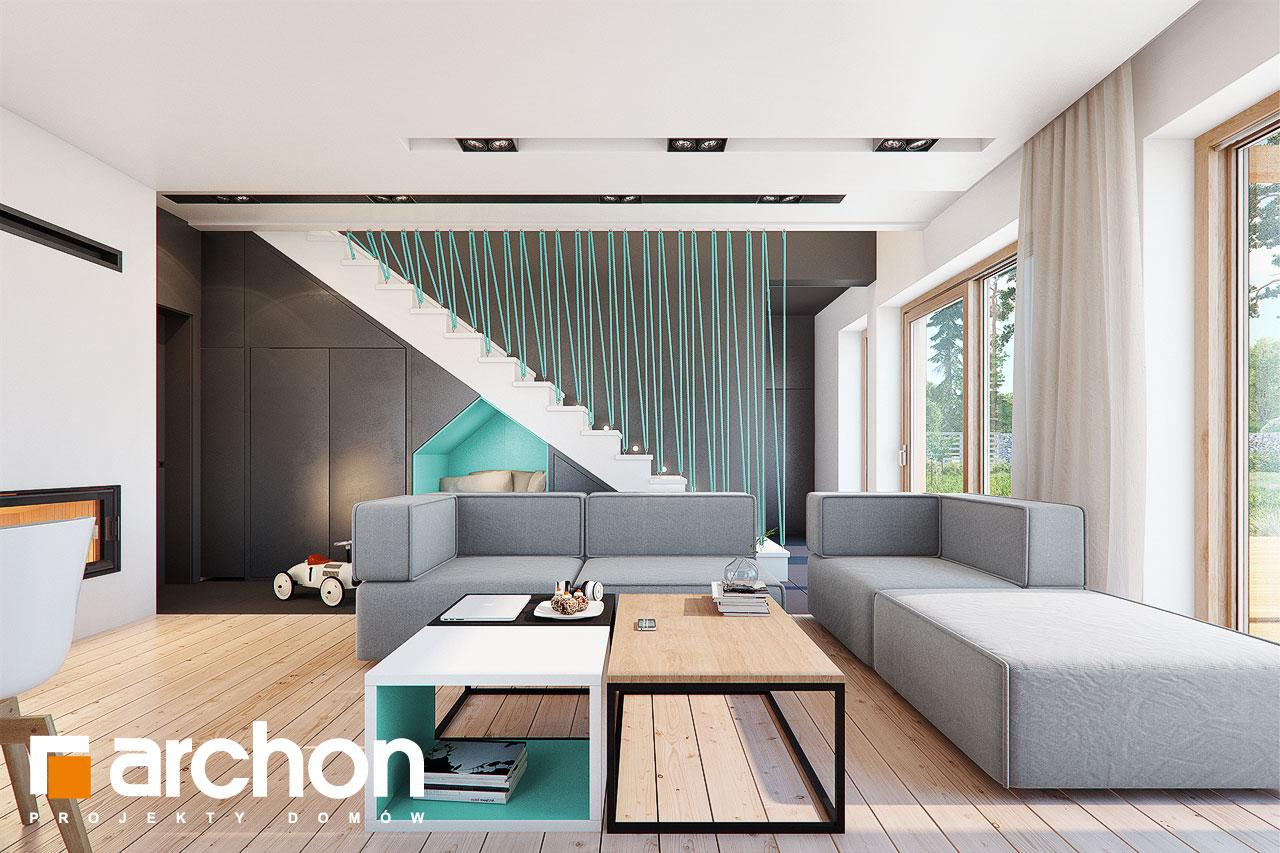 Проект будинку ARCHON+ Будинок в аммобіумі (Г2) денна зона (візуалізація 1 від 2)