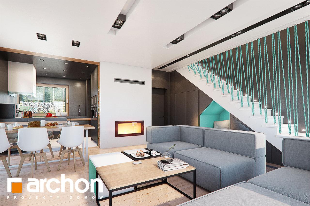 Проект будинку ARCHON+ Будинок в аммобіумі (Г2) денна зона (візуалізація 1 від 3)