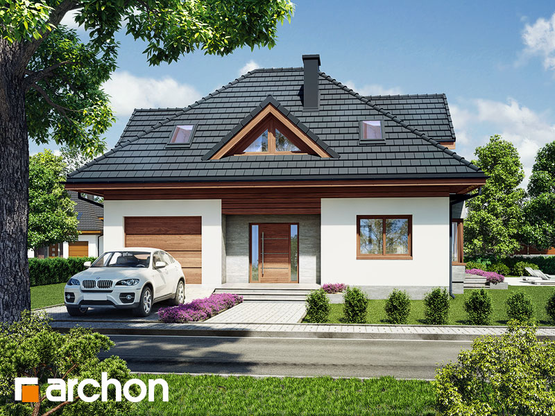 Проект будинку ARCHON+ Будинок в клеверках 3 Вид 1