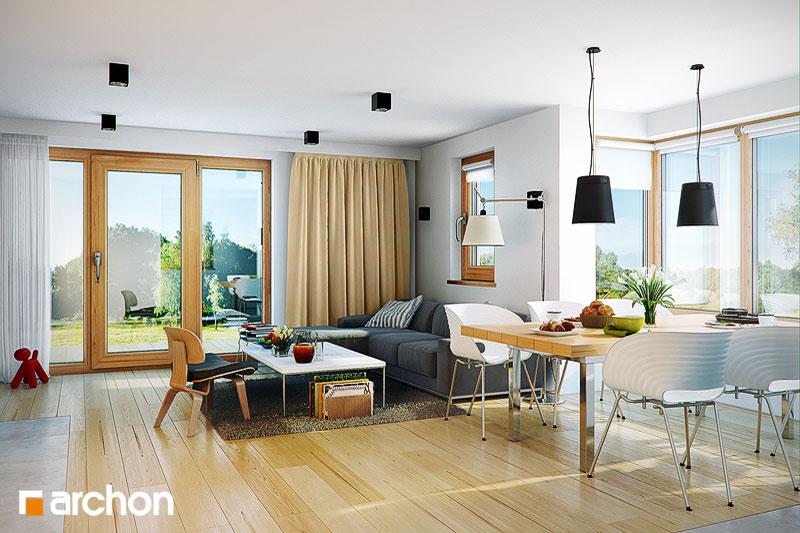 Проект дома ARCHON+ Дом в клеверках 3 дневная зона (визуализация 1 вид 1)