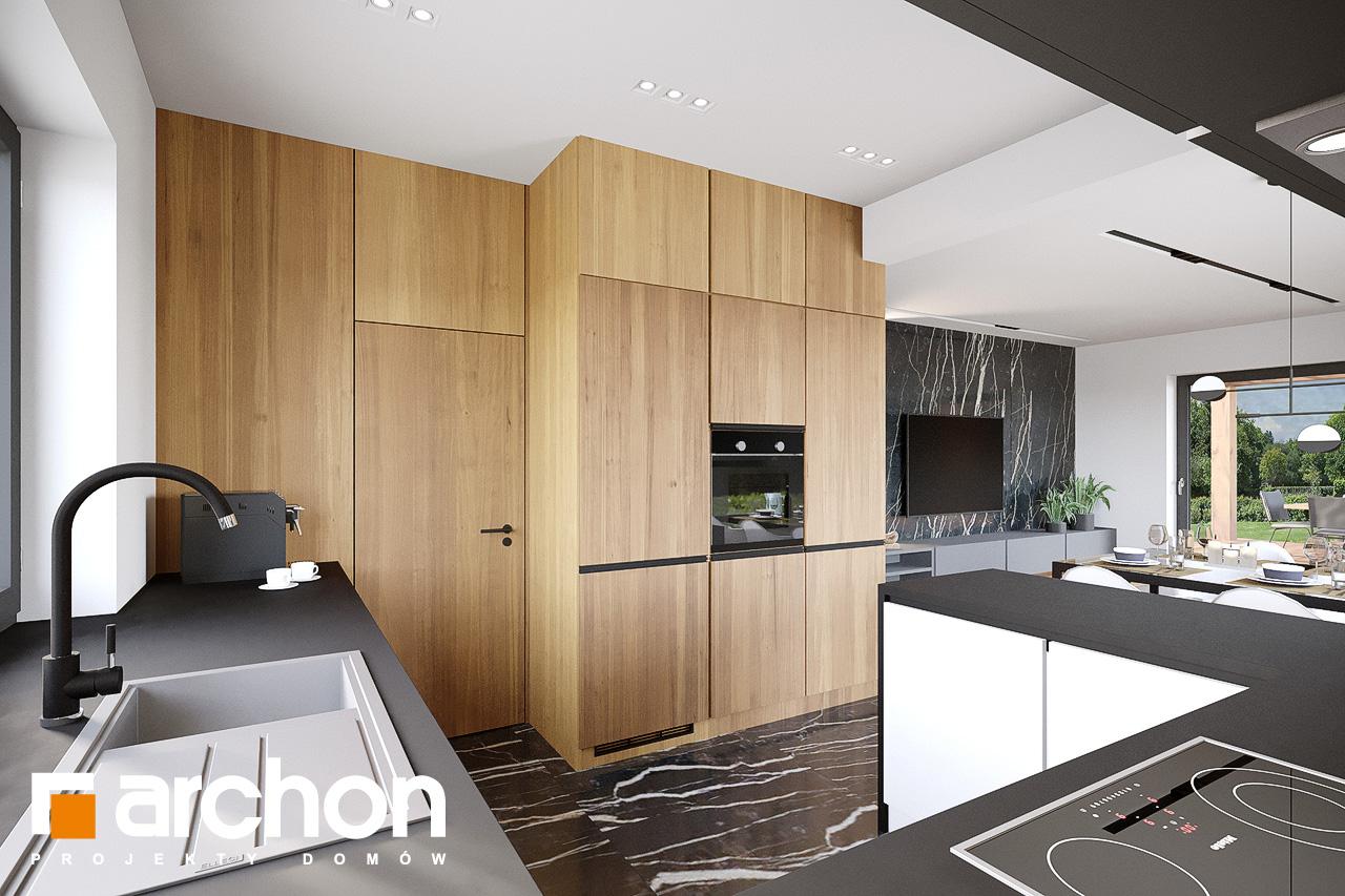 Проект будинку ARCHON+ Будинок у вівсянниці 9 (Е) візуалізація кухні 1 від 1