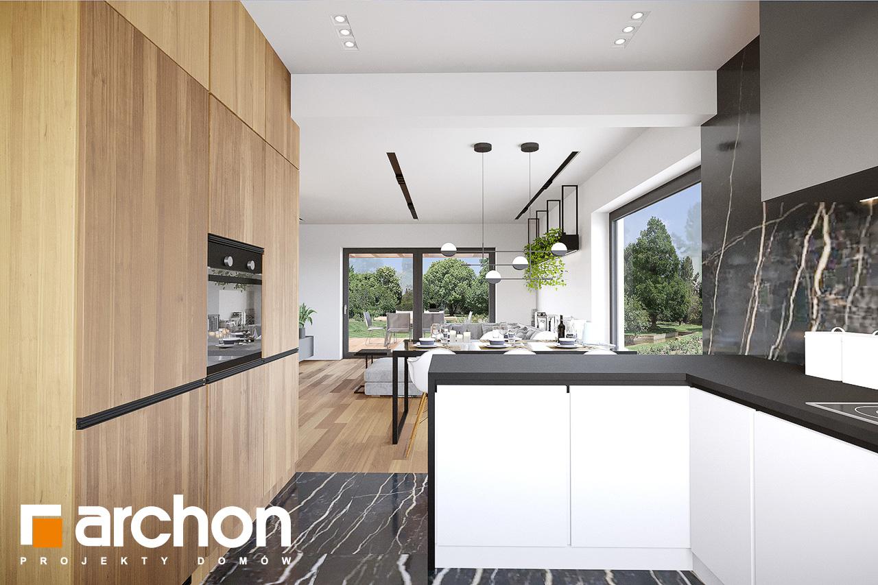 Проект будинку ARCHON+ Будинок у вівсянниці 9 (Е) візуалізація кухні 1 від 2