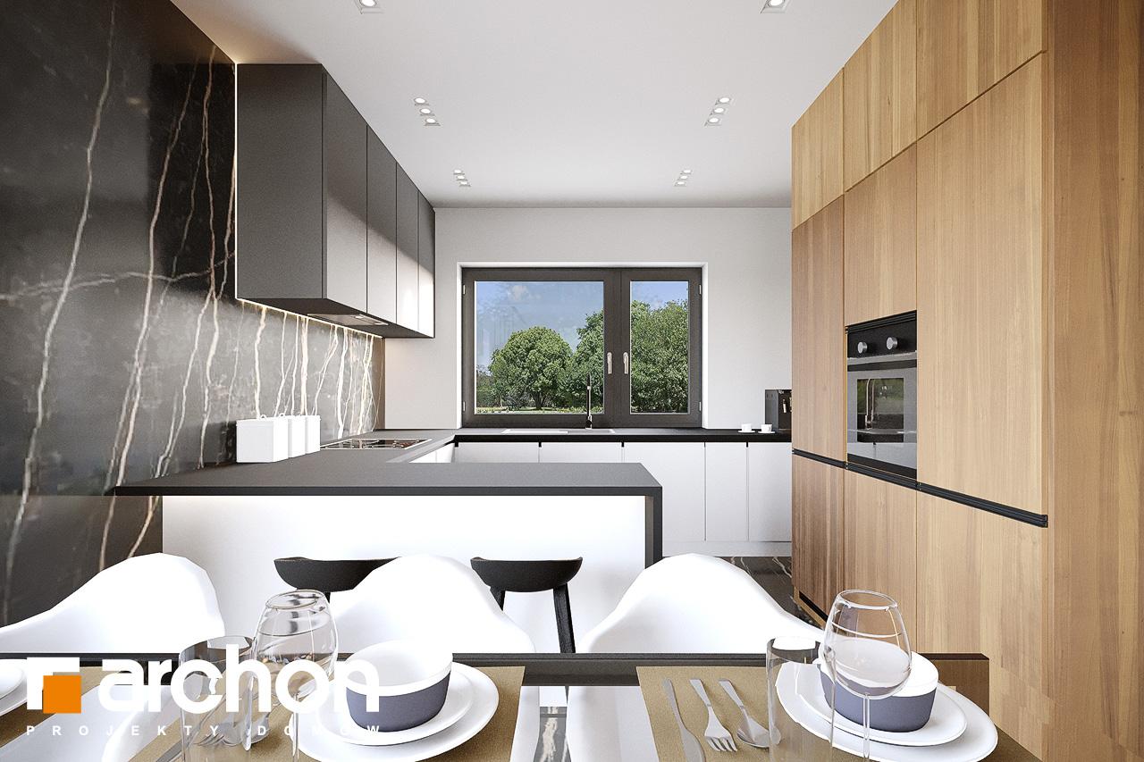 Проект будинку ARCHON+ Будинок у вівсянниці 9 (Е) візуалізація кухні 1 від 3