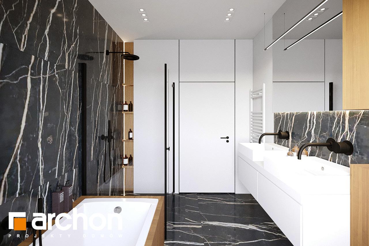 Проект будинку ARCHON+ Будинок у вівсянниці 9 (Е) візуалізація ванни (візуалізація 3 від 1)
